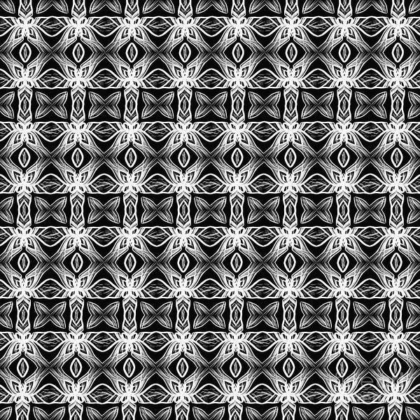 Wall Art - Photograph - Pattern In Black And White By Kaye Menner by Kaye Menner
