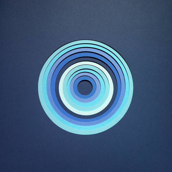 Concentration Photograph - Pattern Of Blue Concentric Circles by Tamara Staples