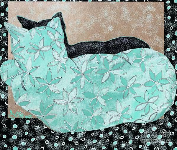 Wall Art - Digital Art - Patterned Cat by Caroline Street