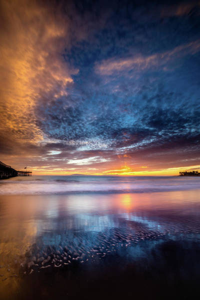 Ventura Photograph - Patterns In Sea And Sky by Dan Holmes