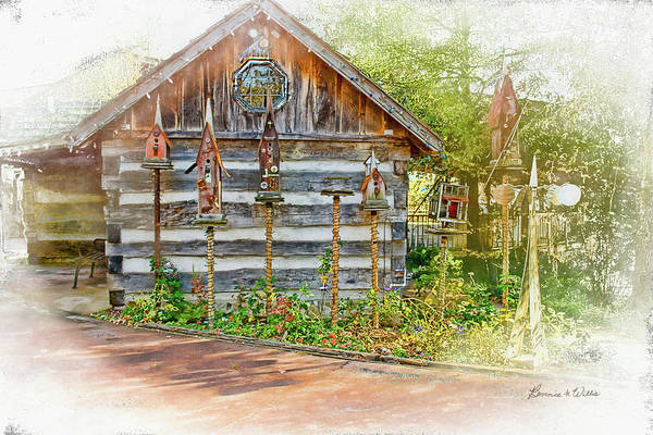 Photograph - Patty's Birdhouse Cabin by Bonnie Willis