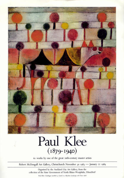Photograph - Paul Klee Exhibition 1984 by Andrew Fare