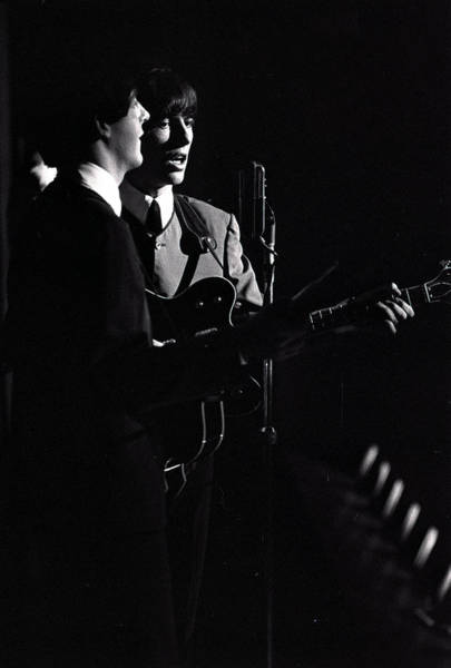 George Harrison Photograph - Paul Mccartney And George Harrison Of by Popperfoto