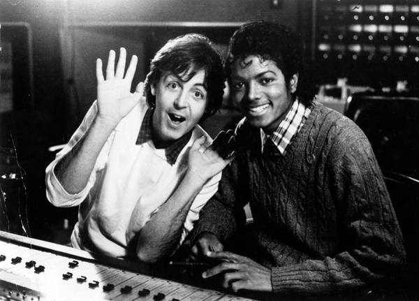 Photograph - Paul Mccartney And Michael Jackson by Afro Newspaper/gado