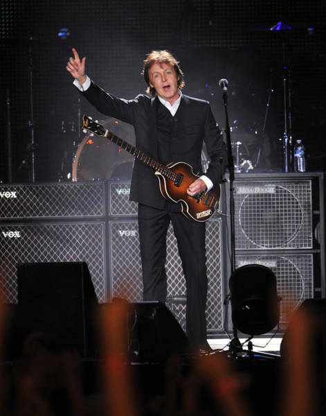 Manhattan Photograph - Paul Mccartney Brings The House Down At by New York Daily News Archive