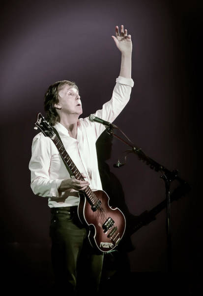 Wall Art - Digital Art - Paul Mccartney In Concert by Daniel Hagerman
