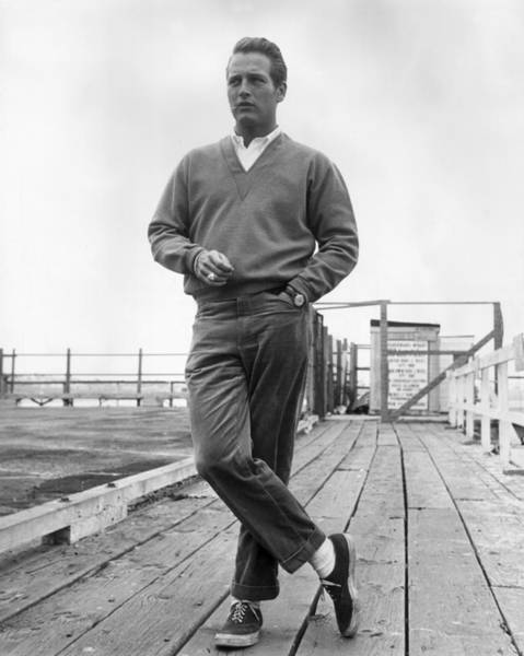 Sweater Photograph - Paul Newman by Hulton Archive