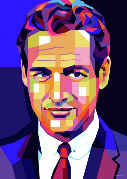 Pop Star Digital Art - Paul Newman Pop Art by Stars-on- Art