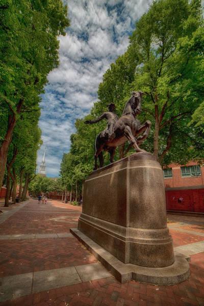Photograph - Paul Revere Statue - Boston by Joann Vitali