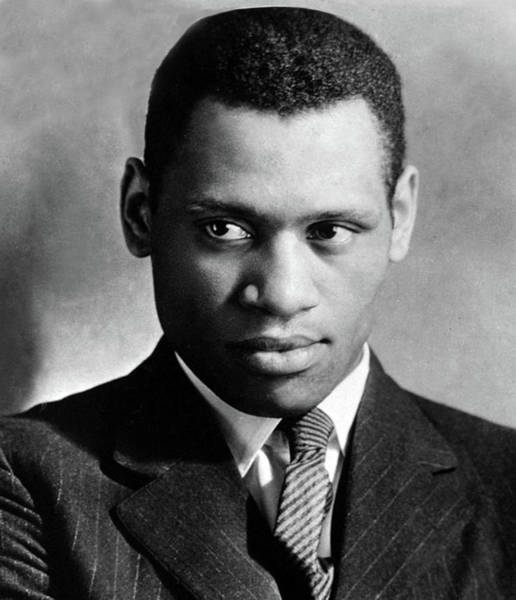 Wall Art - Photograph - Paul Robeson, American Singer And Actor by Science Source