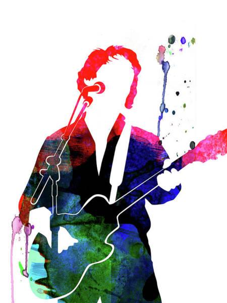 Rock Mixed Media - Paul Simon Watercolor by Naxart Studio