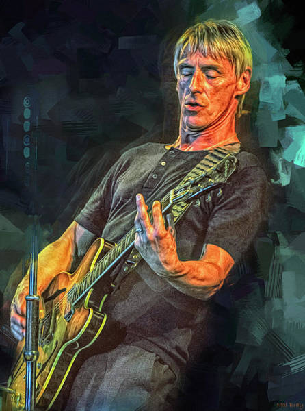 Wall Art - Mixed Media - Paul Weller by Mal Bray