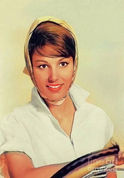 Wall Art - Painting - Paula Prentiss, Vintage Actress by John Springfield