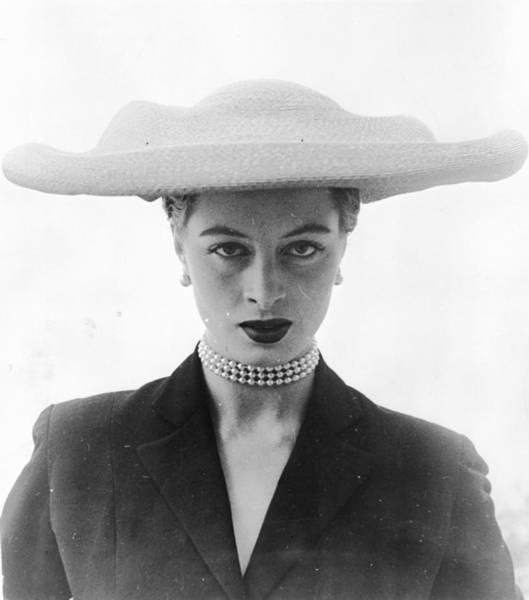 Straw Hat Photograph - Paulette Hat by Bill Brandt