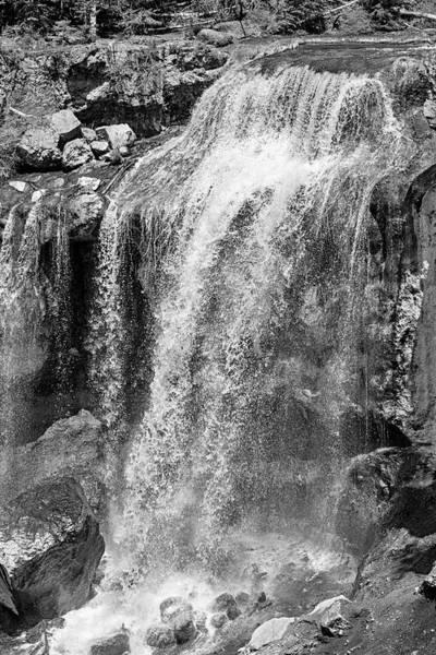 Photograph - Paulina Falls Black And White Art by David Millenheft