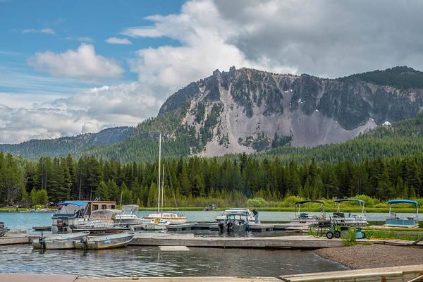 Photograph - Paulina Lake Pier by Matthew Irvin