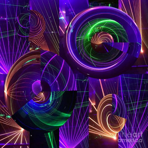 Wall Art - Photograph - Paulo Circus Laser Show  by Merice Ewart