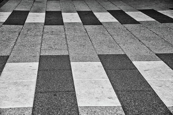 Photograph - Paving Stones In Black And White by Bill Cannon