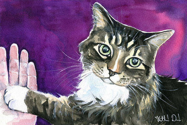 Painting - Paw Love by Dora Hathazi Mendes