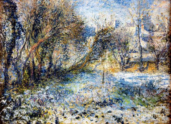 Painting - Paysage De Neige by Auguste Renoir