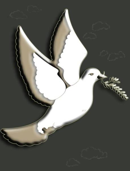 Olive Branch Digital Art - Peace Among The Clouds by Cynthia Leaphart