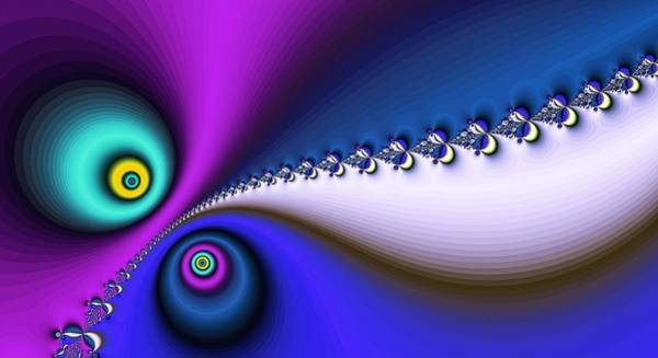 Digital Art - Peace And Love Blue by Don Northup