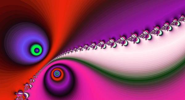 Digital Art - Peace And Love Deep Pink by Don Northup