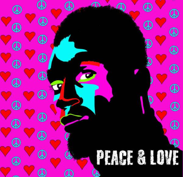 Wall Art - Digital Art - Peace And Love  by Lynnda Rakos