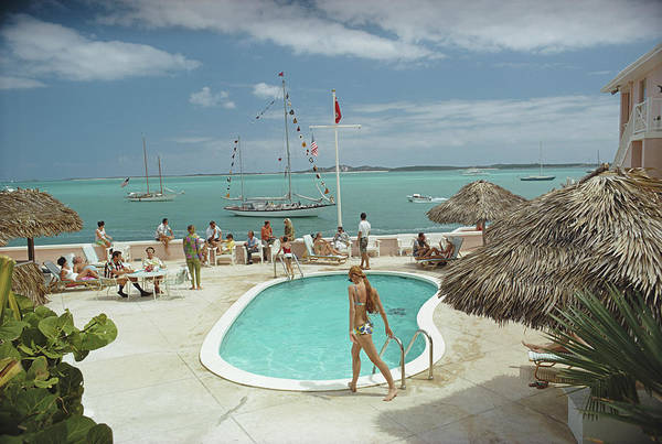 Swimming Photograph - Peace And Plenty by Slim Aarons