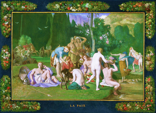 Wall Art - Painting - Peace - Digital Remastered Edition by Pierre Puvis de Chavannes
