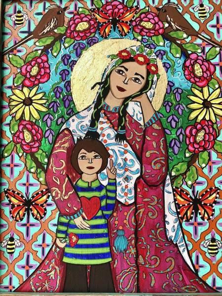 Wall Art - Mixed Media - Peace In My Mothers Garden by Erin Leeper