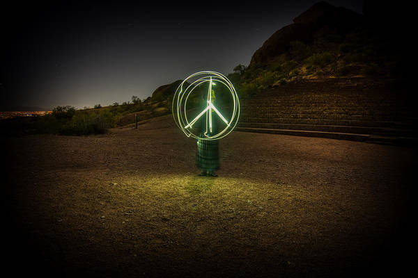 Photograph - Peace Light Drawing by Ants Drone Photography