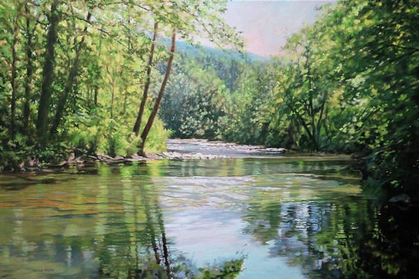 Wall Art - Painting - Peace Like A River by Bonnie Mason