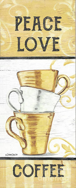 Milk Painting - Peace, Love, Coffee 2 by Debbie DeWitt
