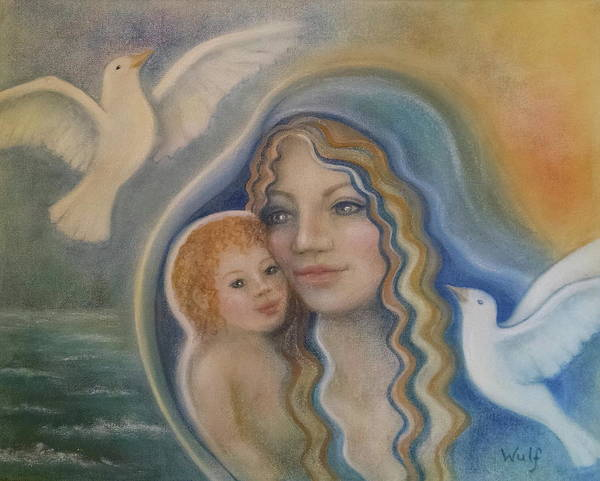 Painting - Peace Mother by Bernadette Wulf