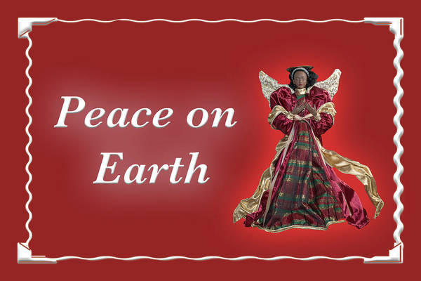 Photograph - Peace On Earth Angel Red by Marvin Bowser