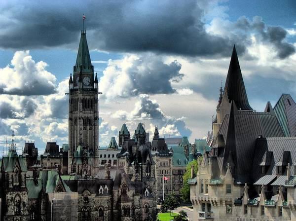 Canadian Culture Photograph - Peace Tower, Ottawa by Elizabeth Beard
