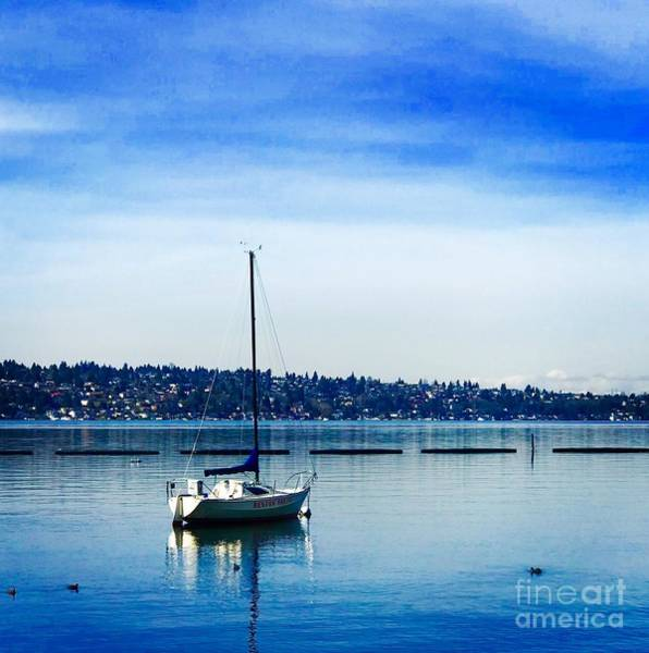 Photograph - Peaceful Day In Blue by Suzanne Lorenz