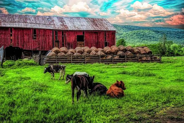 Digital Art - Peaceful Farm Scene. by Rusty R Smith