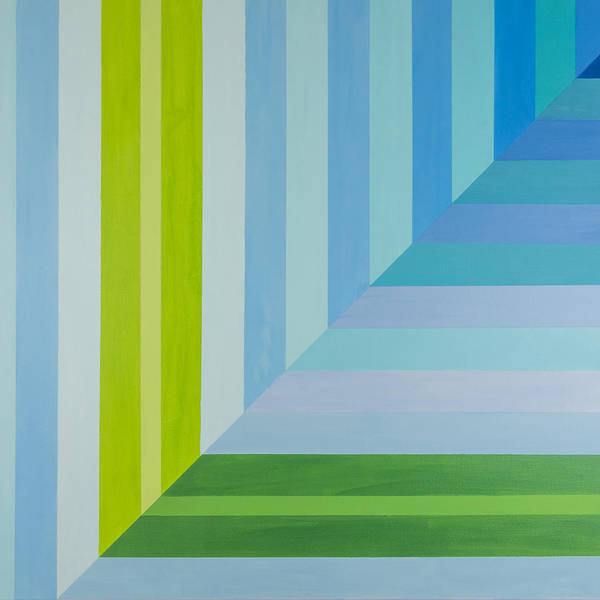 Painting - Peaceful Geometric Shade by Lisa Smith