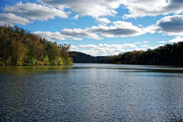 Photograph - Peaceful Lake In Autumn by Peter Ponzio