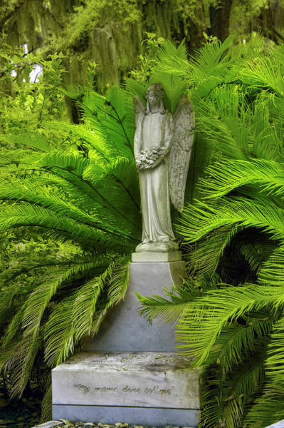 Photograph - Peaceful  Thoughts At Bonaventure Cemetary by Jon Glaser