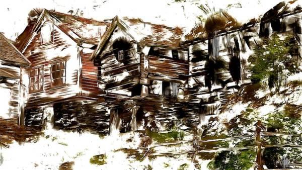 Digital Art - Peaceful Village by Mario Carini