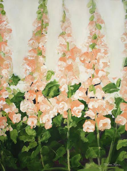 Wall Art - Painting - Peach Foxglove by Melissa Lyons