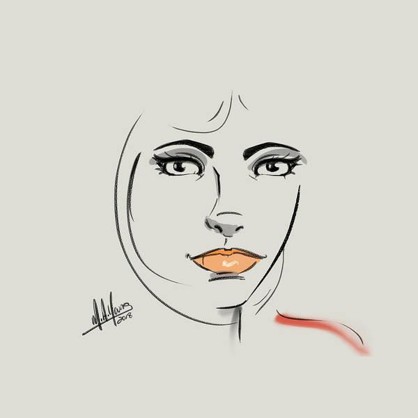 Digital Art - Peach by M A Young