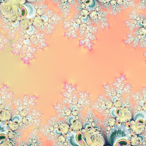 Digital Art - Peach Spring Frost On Flowers Fractal Abstract by Rose Santuci-Sofranko