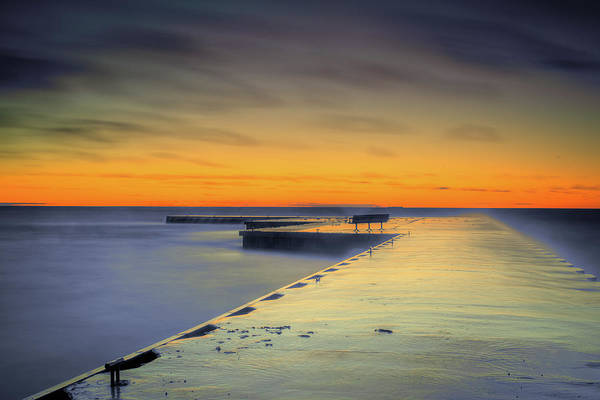 Photograph - Peach Sunset by David Heilman