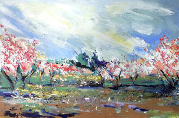 Painting - Peach Trees by John Jr Gholson