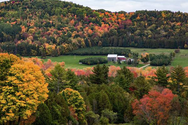 Photograph - Peacham Vermont Farm On A Hill by Jeff Folger
