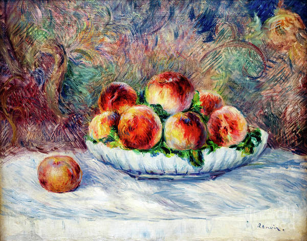 Painting - Peaches by Auguste Renoir